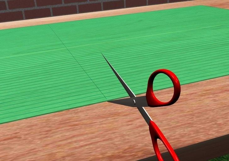 Если толщина поликарбоната менее 30 мм, его можно разрезать большими ножницами