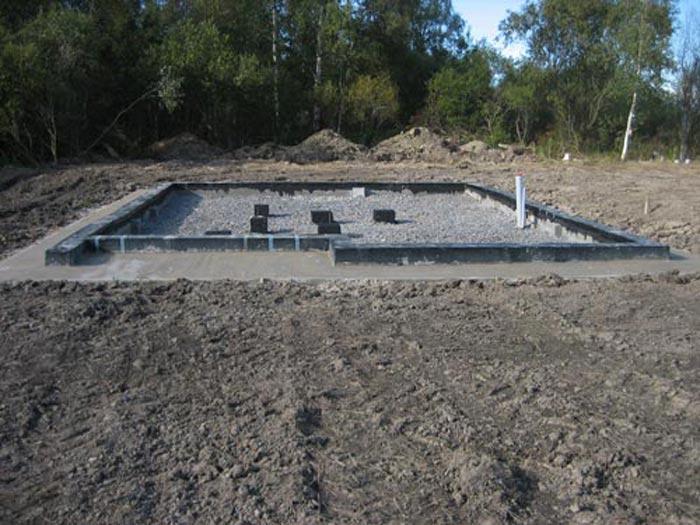 Мелкозаглубленный ленточный фундамент под теплицу