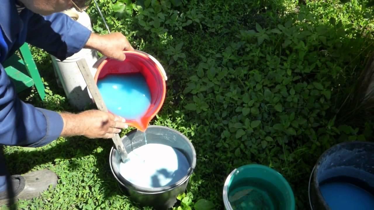 Приготовление бордоской жидкости