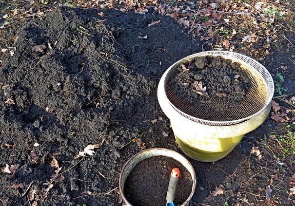 Просеивание почвы