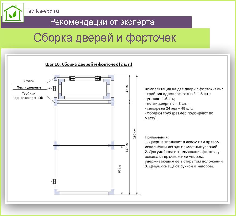 Шаг 10. Сборка дверей и форточек