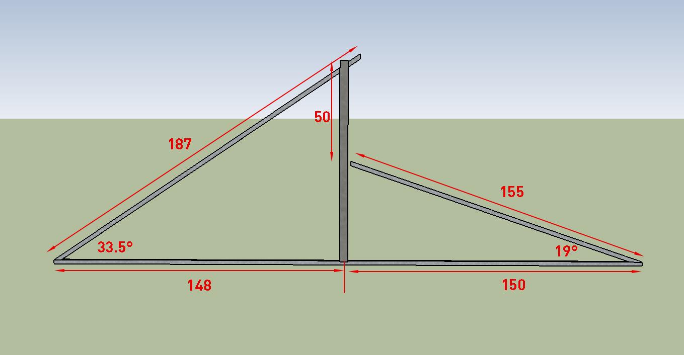 Схема крыши для теплицы Митлайдера