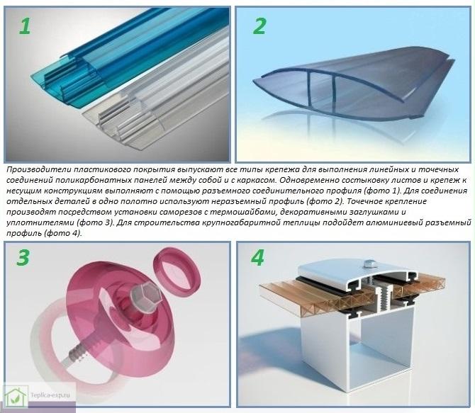 Какой крепеж нужен для покрытия теплицы поликарбонатом