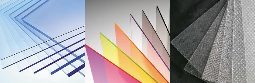 Монолитный поликарбонат (прозрачный, цветной, шагрень)