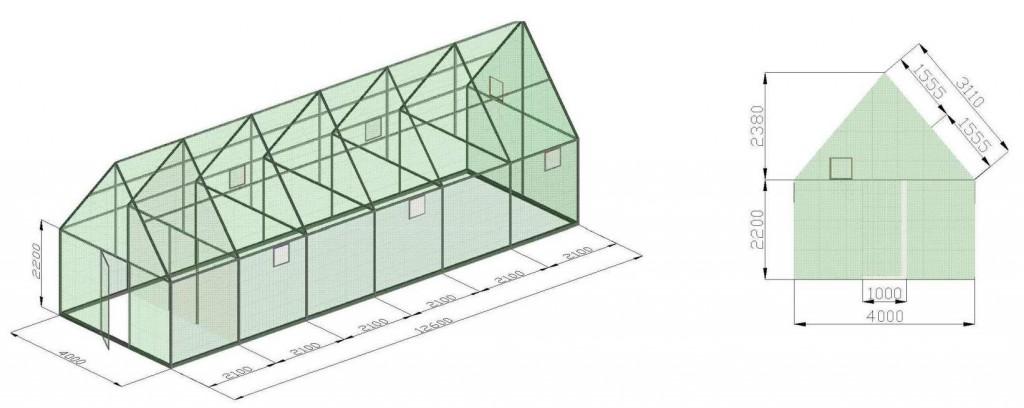 Оптимальные размеры теплицы из сотового поликарбоната