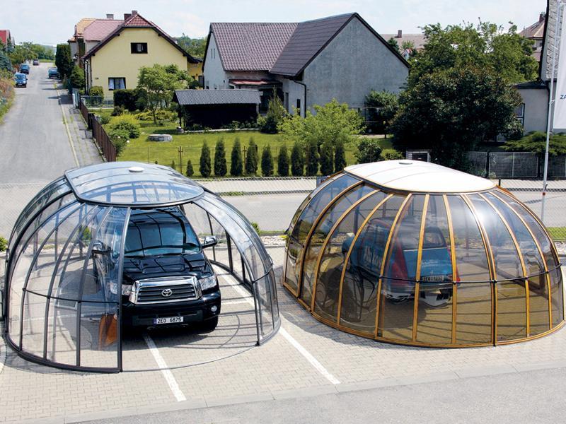 Оригинальные автонавесы из поликарбоната (прозрачного и бронзового)