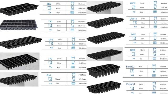 Основные виды пластиковых кассет для рассады