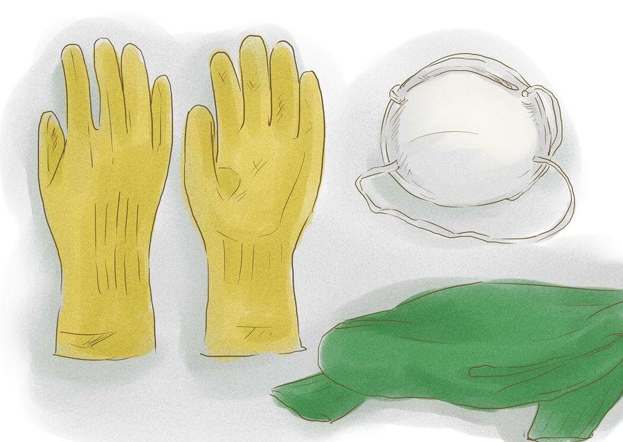 При работе с химикатами не забывайте о средствах индивидуальной защиты!