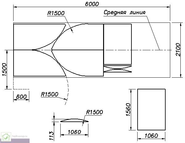 Пример разметки поликарбоната