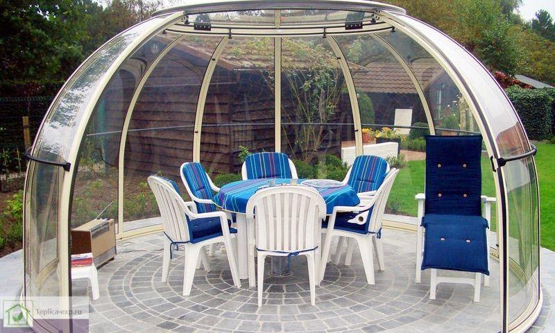 Прозрачный купол из монолитного поликарбоната