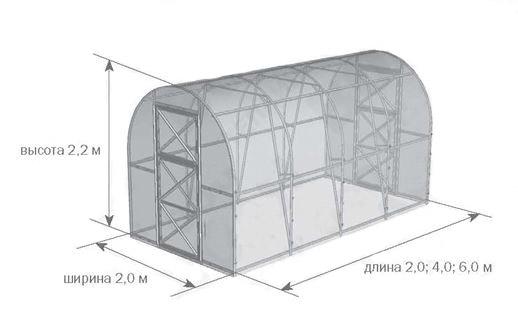 Размеры конструкции