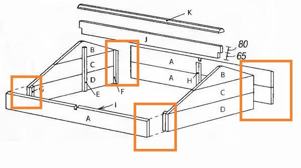 Схема соединения стенок