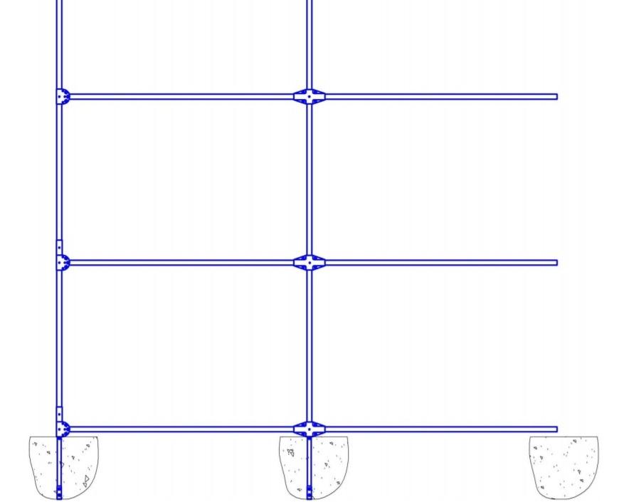 Схема установки теплицы в грунт
