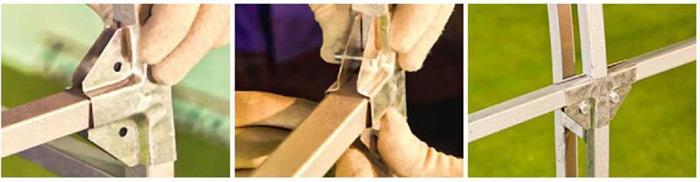Крепление стяжек с помощью спайдерных пластин