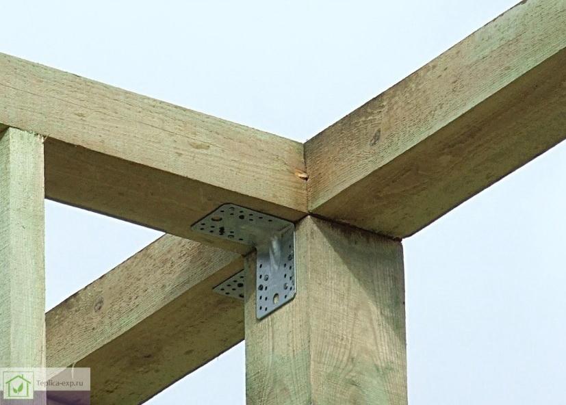 Пример монтажа верхней обвязки