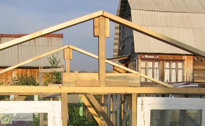 Пример готового деревянного каркаса крыши