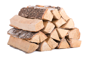 Укладка деревянных чурок