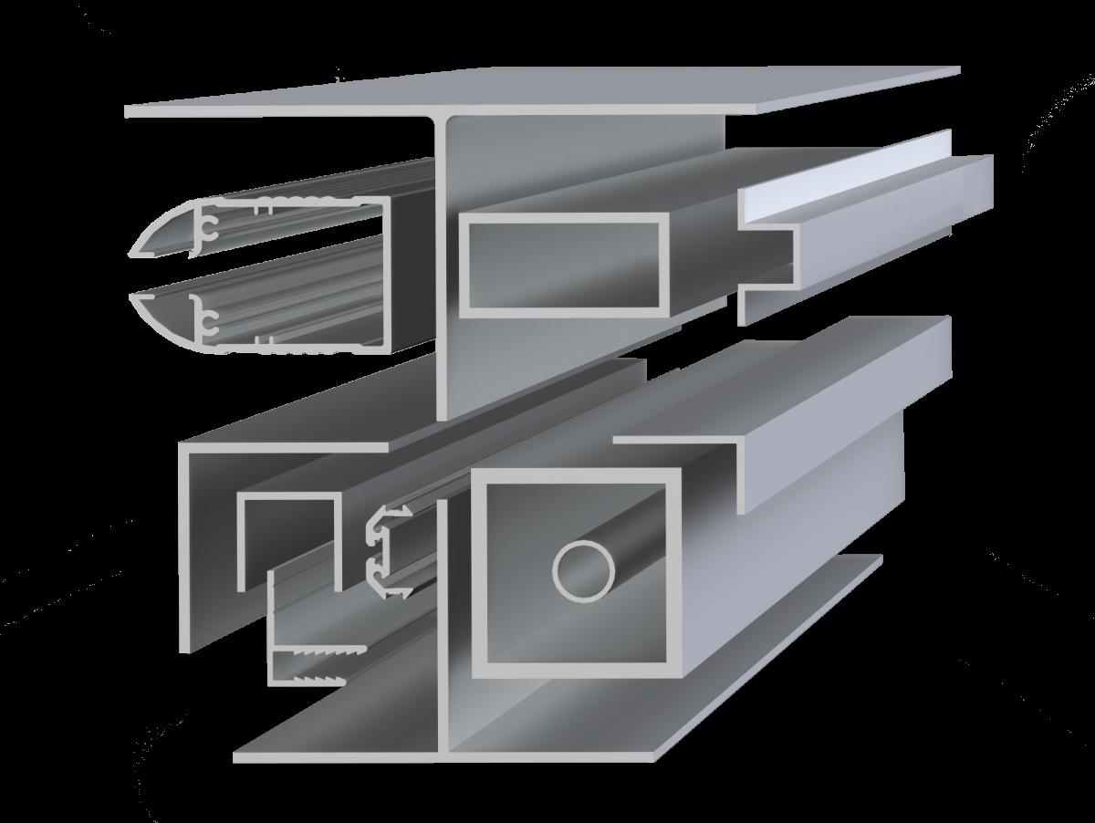 Алюминиевые профили для поликарбоната