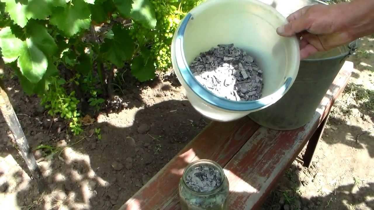 Древесная зола для приготовления раствора