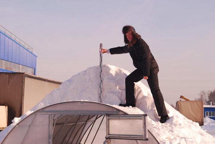 Готовая конструкция будет выдерживать серьезные снеговые нагрузки