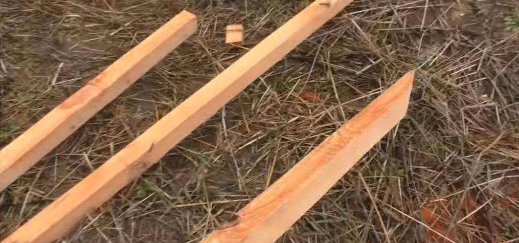 Готовые брусья для крыши теплицы