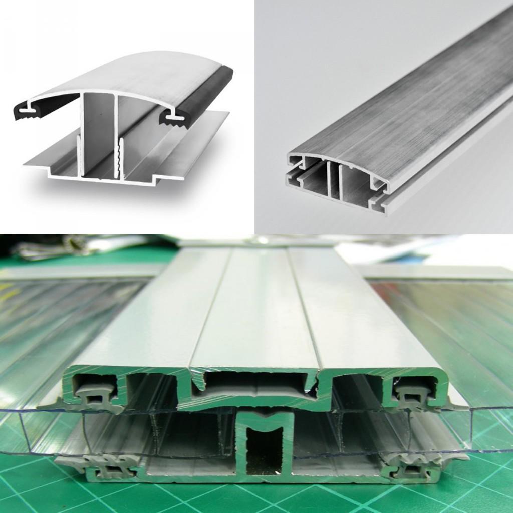 Использование алюминиевого соединительного профиля для поликарбоната