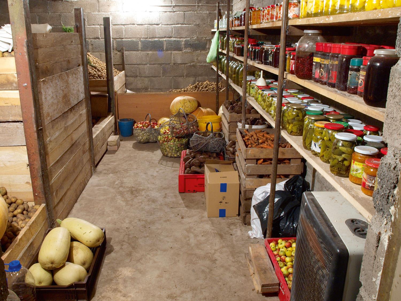Хранение фруктов и овощей в погребе