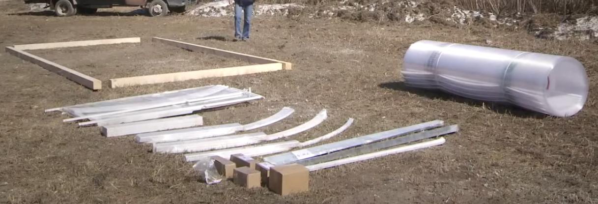 Комплект деталей и материалов для сборки теплицы «Кормилица-Умница»