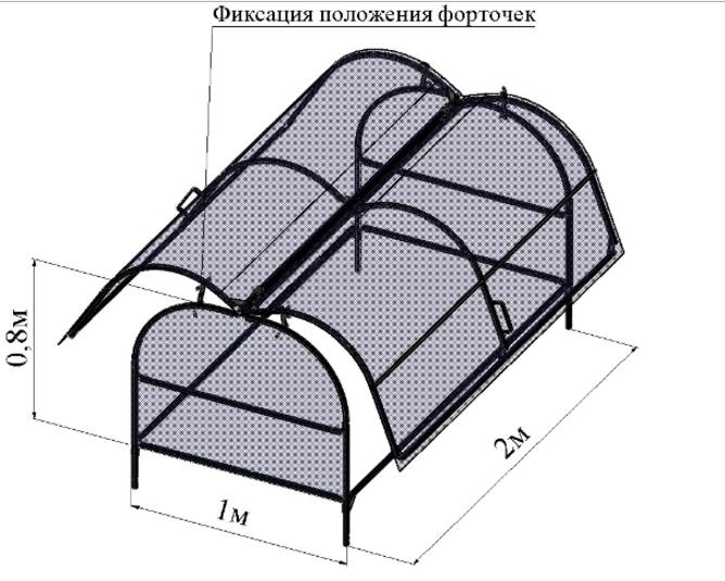 Конструкция парника-бабочки