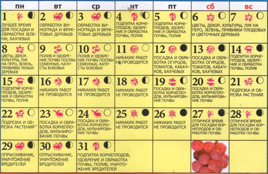 Лунный посевной календарь на май 2017 года