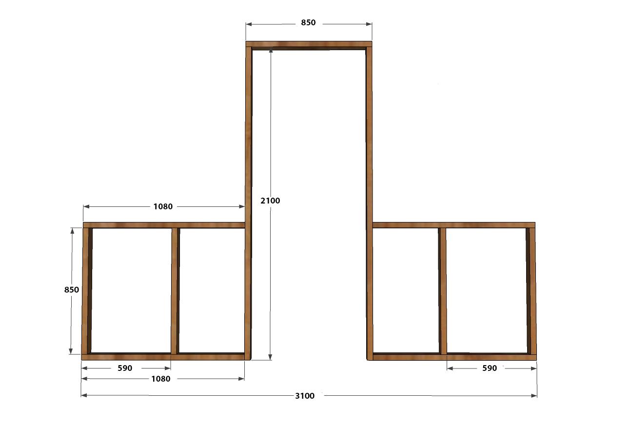 Передняя стенка и дверная коробка