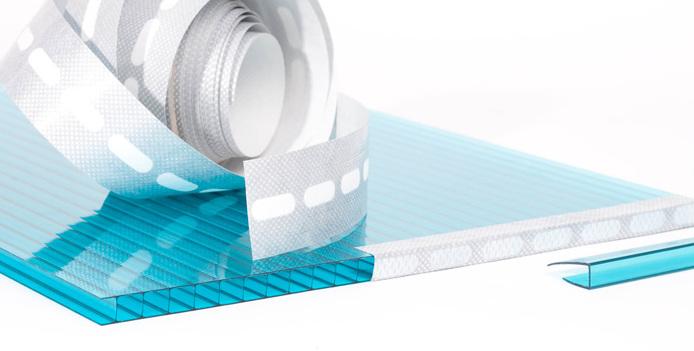 Перфорированная лента для герметизации поликарбонатных листов