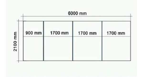 Пример разметки листа на стену парника