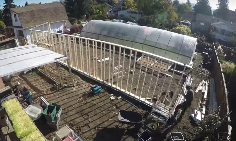 Процесс сооружения каркаса