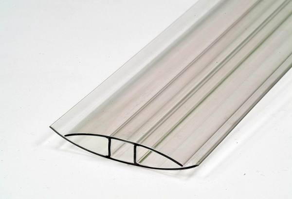 Профиль предназначен только для соединения двух листов поликарбоната