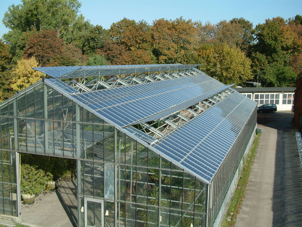Промышленная теплица с двухскатной крышей