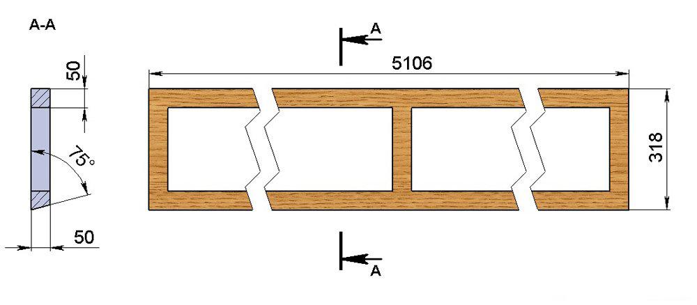 Рама потолочной фрамуги