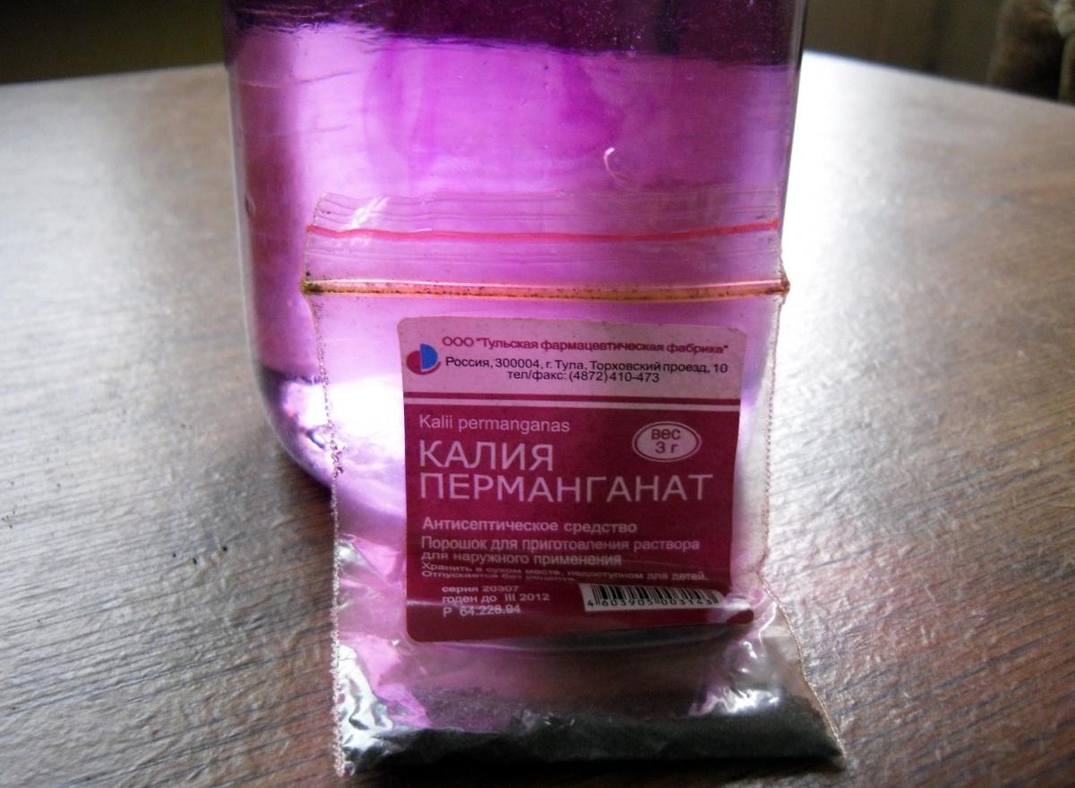 Раствор марганцовки для обеззараживания грунта