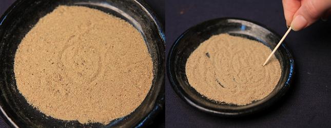 Семена смешиваются с песком