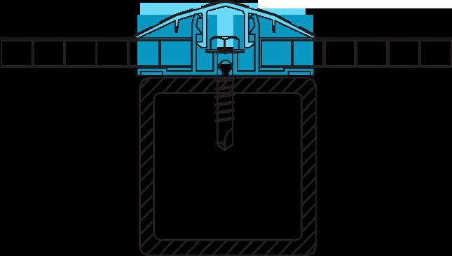 Схема крепления разъемного стыковочного профиля