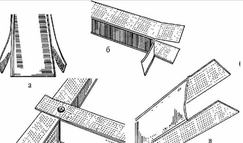 Схема крепления с помощью «лепестка»