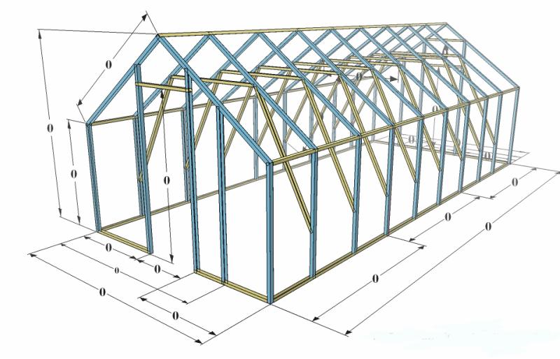 Схема крепления вертикальных стоек