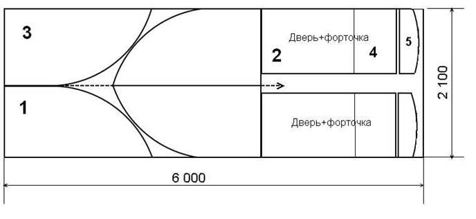 Схема раскроя поликарбоната на теплицу (пример)