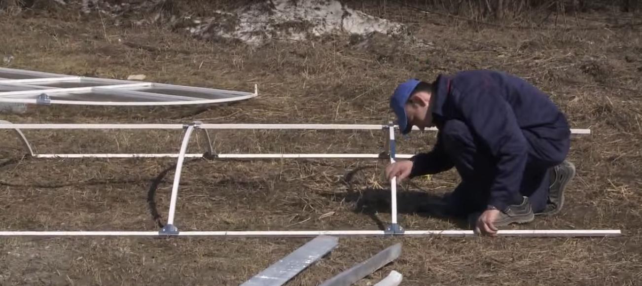 Соединение элементов каркаса крыши