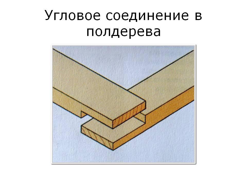Угловое соединение в полдерева