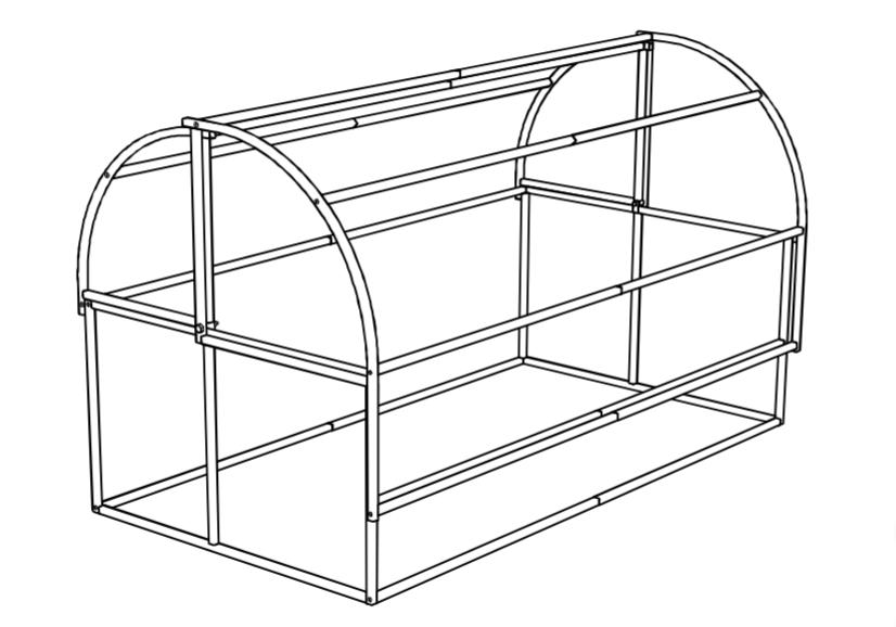 Схема парника «Новатор-Макси»