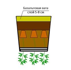 Вкладыши из базальтовой ваты