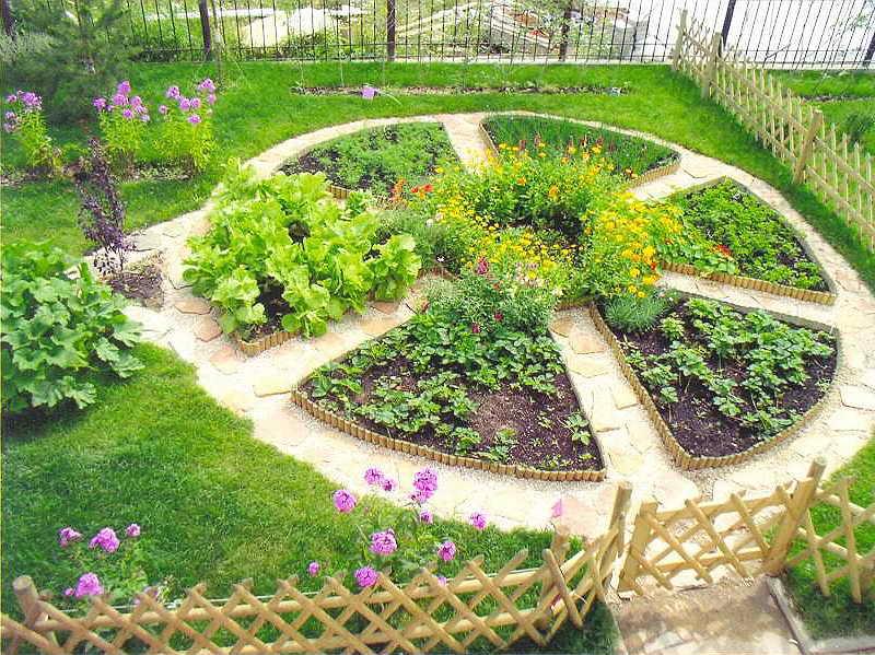 Французский огород — симметричные грядки правильной формы