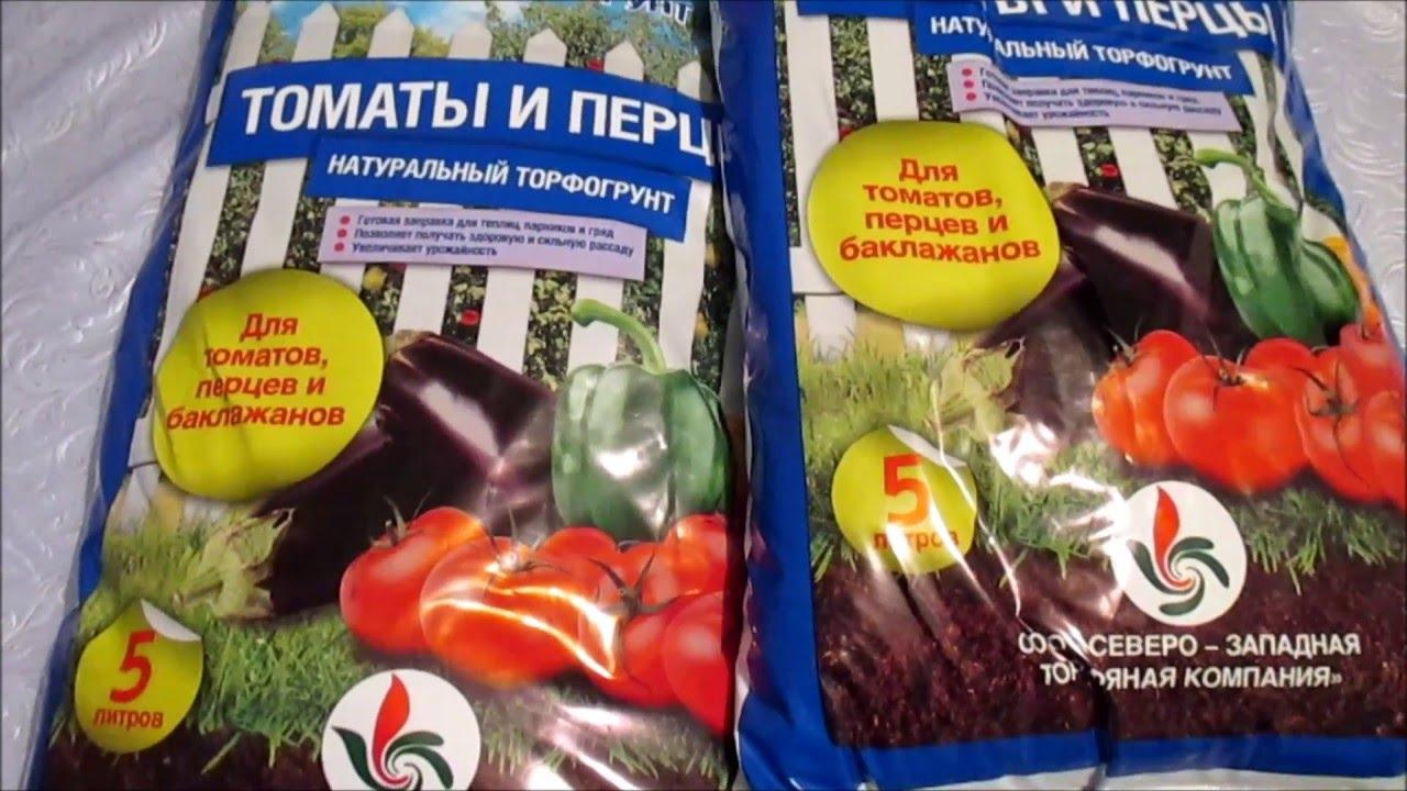 Грунт для рассады томатов, перцев и баклажанов