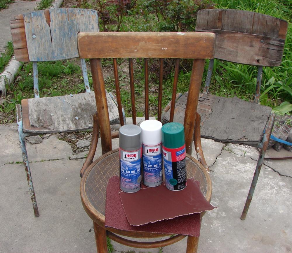 Как сделать клумбу из старого стула